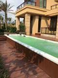 一体式游泳池设备,恒温水疗过滤通通齐全