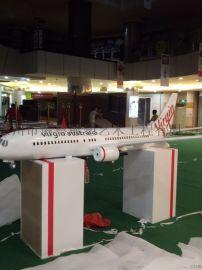 仿真玻璃钢飞机模型雕塑展览活动霸气摆件