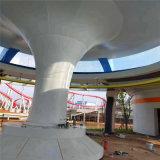 四川门头深灰色包柱铝板 综合楼造型包柱铝单板
