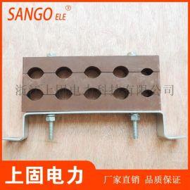 电缆固定夹双排十孔 防涡流夹具电缆夹具 FJ-01