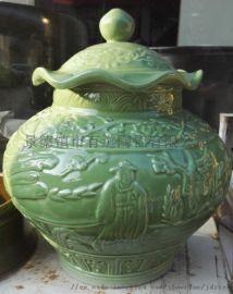 仿古瓷加工陶瓷佛像菩萨花瓶生产罐子