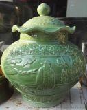 仿古瓷加工陶瓷佛像菩薩花瓶生產罐子