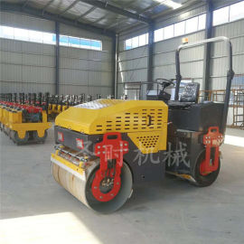 双轮驱动3吨手扶座驾式压路机特点柴油振动小型压实机