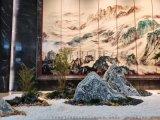 雪浪石景观石定制泰山石切片石造景公园别墅泰山石造景