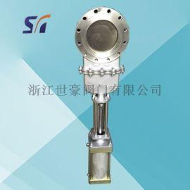 氣動刀閘閥 明桿氣動刀形閥 對夾式氣動閥