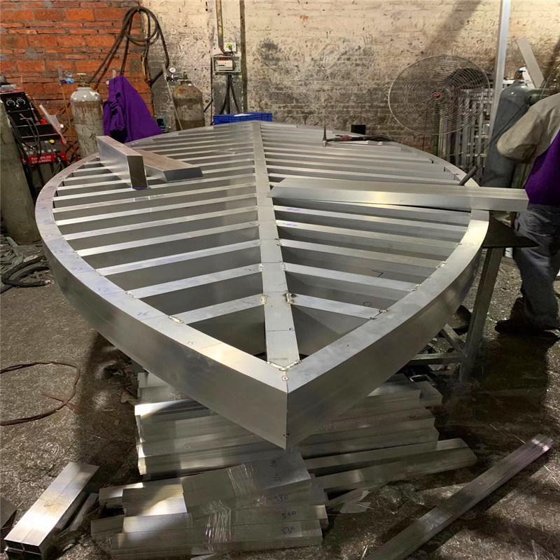 大型金属铝格栅屏风 半圆屏风铝合金隔断