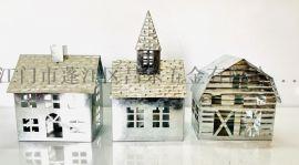 鍍鋅原色節日裝飾小鐵盒,鐵皮盒,鍍鋅節日蠟燭臺