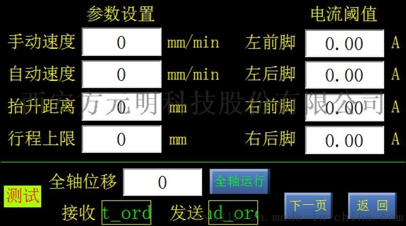 一键调平系统,车辆机械设备调平,遥控
