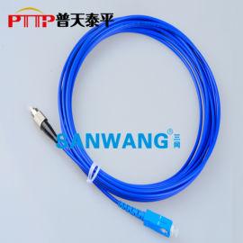 铠装光纤跳线 FC-SC铠甲光纤活动连接器