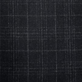 麦尔登呢格子粗纺面料生产