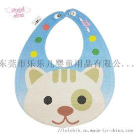 可愛動物造型嬰兒圍嘴 純棉卡通寶寶圍嘴 嬰兒囗水巾