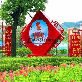 供应出口不锈钢雕塑电镀定制厂家 广场校园标志