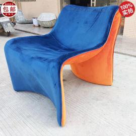 计师休闲椅 现代简约 客厅酒店 玻璃钢 懒人沙发