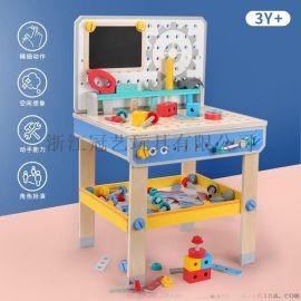菲加尼神奇工具台木制儿童玩具