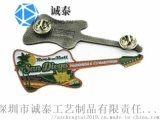 個性吉他胸針定制小提琴烤漆徽章制作潮男西裝徽章生產