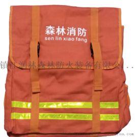 森林消防水带背包 大容积消防装备包 消防水带框背包