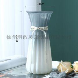 简约花瓶创意花瓶双色花瓶客厅花瓶摆设花瓶餐桌花瓶