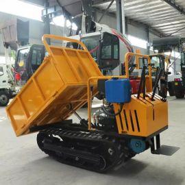 水稻田柴油运输车 沃特机械 履带式农用小型运输车