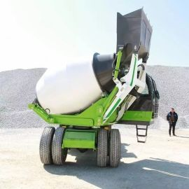 自上料水泥搅拌车 自上料移动式混凝土搅拌车
