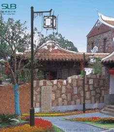 中式仿古景区庭院灯单头亚克力步道灯铝制烤漆高杆灯