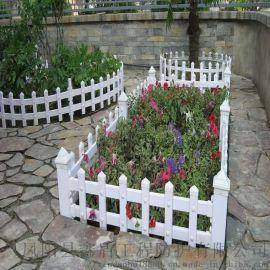 青海果洛花坛pvc护栏 塑料草坪护栏