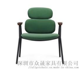时尚休闲洽谈椅 工业风办公会客椅 茶几间休息椅