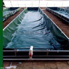 专业定做帆布水池养鱼养虾水池湖南养殖基地