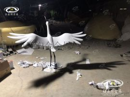 售楼部白鹤景观雕塑摆件园林不锈钢仙鹤雕塑