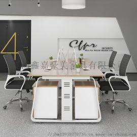 职员办公桌椅组合简约现**公室屏风隔断工位卡座