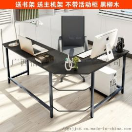 拼角夹双窄面桌 河池板铁框家具 柳州转直尚敞桌