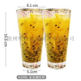 锤纹杯家用玻璃喝水杯喝茶杯酒杯果汁杯饮料杯子套装