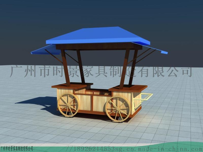 冰淇淋冷饮等玻璃钢售卖亭-售卖车-移动花车