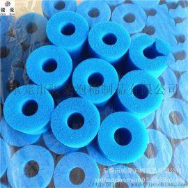 蓝色游泳池过滤海绵海绵海绵柱 过滤海绵 海绵柱