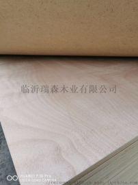 贴桃花芯面木箱板 漂白杨木包装板