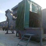 通畅集装箱卸灰机 干灰石粉中转设备 无尘翻箱倒料机