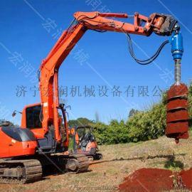 定做小型旋挖钻机 挖机钻坑螺旋钻机