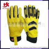 真皮機械防震手套 防撞手套 戶外運動高性能防護手套