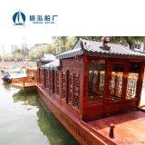 休闲古典木船,水上仿古画舫船,景区观光船