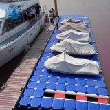 海上摩托艇游船码头停靠平台塑料浮筒栈道