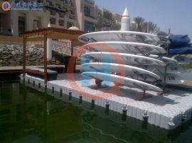 水上舞台水上游艺设施平台水上塑料浮筒