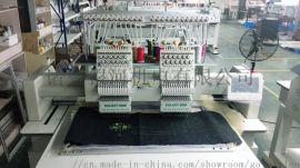 工厂直销全自动两头鞋绣电脑绣花机 多头帽綉成衣绣鞋面鞋垫绣机可定制