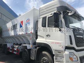 东风天龙  后八9.6米电动散装饲料运输车