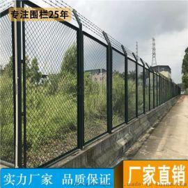 佛山边框护栏网 绿色铁丝网护栏 隧道钢板网护栏