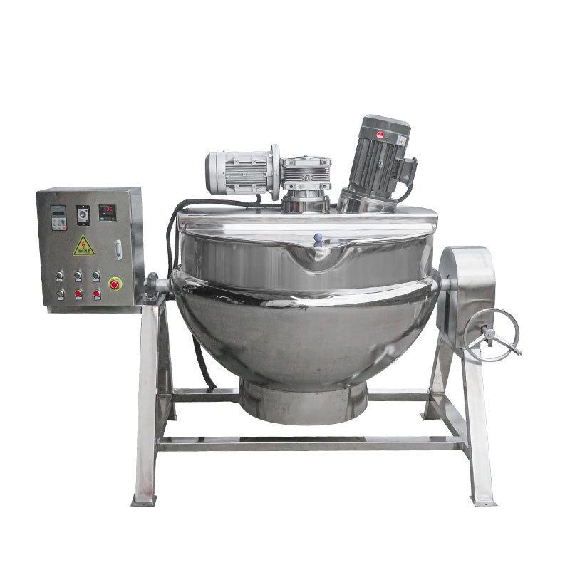 非標定製電加熱可傾式帶乳化夾層鍋 蒸煮夾層攪拌鍋