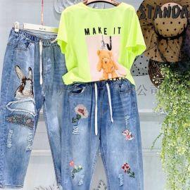牛仔褲品牌折扣女装尾货 蒂米丝儿专柜货源