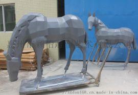 玻璃钢户外马-公园雕塑