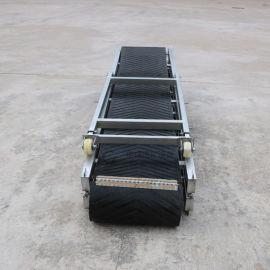 装车卸货流水线输送带移动升降防滑橡胶皮带折叠输送机