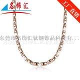 名饰汇厂家供应 不锈钢项链 锗石项链定制