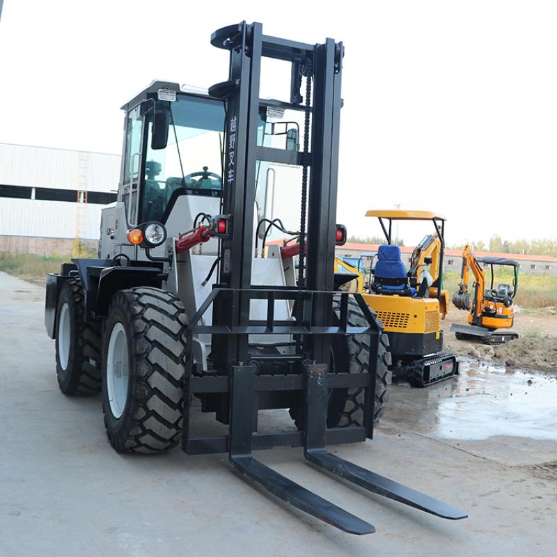 3噸小型液壓越野叉車 工地用大馬力越野叉車
