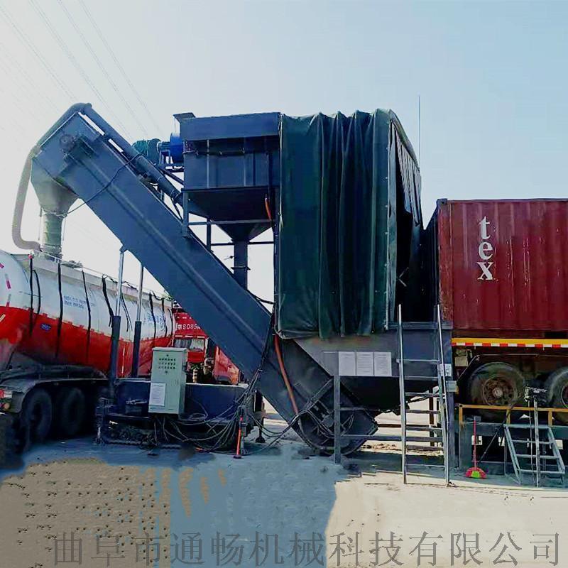 集裝箱倒灰卸車機報價 環保粉煤灰拆箱機 自動卸灰機
